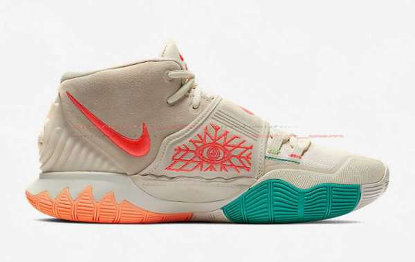 "2020 Nike Kyrie 6 ""N7"" Tan/Light Crimson/Rage Green/Teal/Peach Will Coming in June"