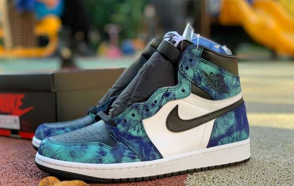 "First Outline:Latest CD0461-100 Air Jordan 1 High OG ""Tie-Dye"" to release on June 11th"